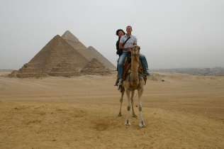 Me, my mom, and a camel in Giza
