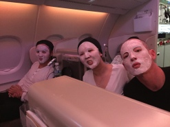 Hydrating Masks aboard Asiana Airlines