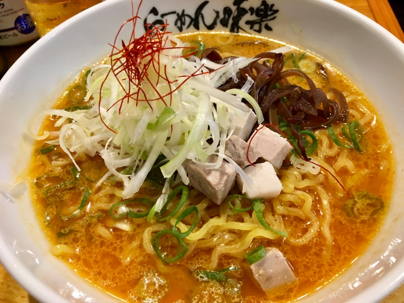 Bowl of miso ramen